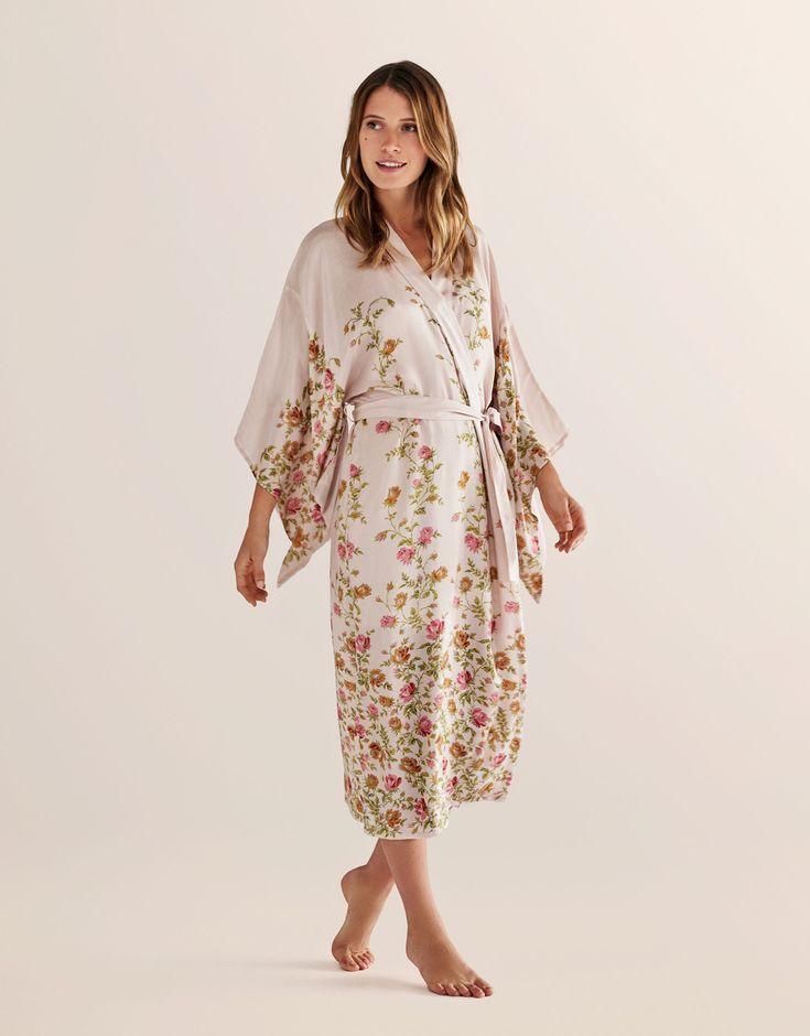 Kimono ljusrosa - Indiska