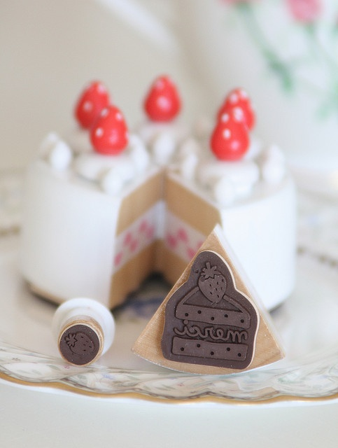 shortcake stamp by decole by cottonblue ♥ Rubber Stamp