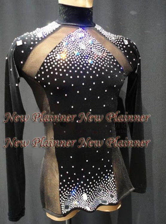 58c63458a5b2 M406 XL size Ballroom Men Latin Salsa Dance Shirt black, lycra, mesh,  Sleeve   eBay