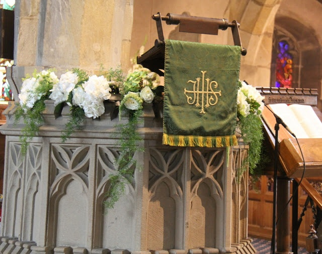 Flower Design Events: Church Flowers at St Bartholamew's Church Chipping