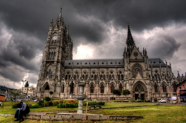 HDR of the awesome basilica in Quito, Ecuador.