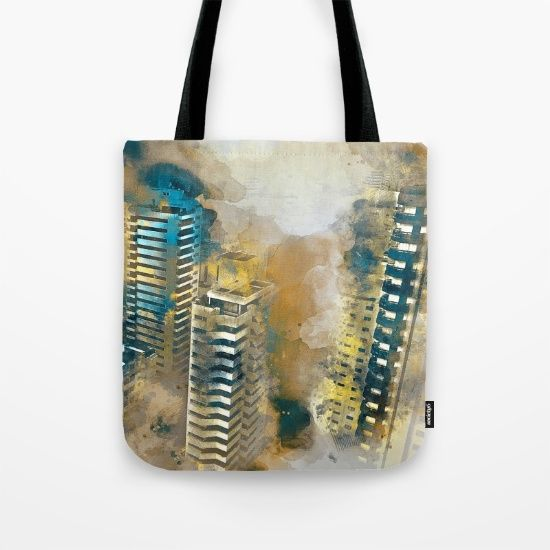 Urban neighborhood Tote Bag by JKdizajn - $22.00