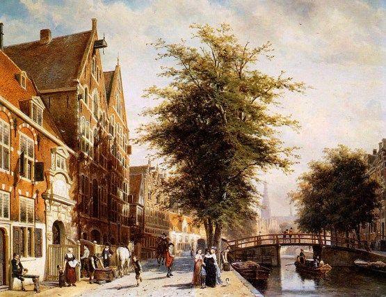 Paisaje urbano de Amsterdam. Cornelis Springer
