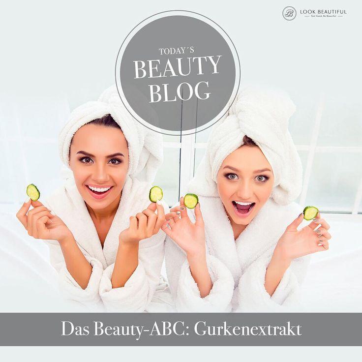 """Gurke besteht zu 95% aus #Wasser. Die weiteren 5% aus denen die #Gurke besteht sind aber ein wahrer #Beautycocktail. Wir verraten Ihnen wieso!  Diesen und viele weitere spannende Blogartikel finden Sie in unserem """"Beauty-Blog"""" auf www.look-beautiful.de.  #Gurkenextrakt #Haut #Hautpflege #Schönheit #Akne #AntiAging #feinePoren #skin #blog #beautyblog #beauty #schönheit #beautiful #lookbeautifulproducts #Vitamine #Beautytipp #Kollagen #Beautywunder #Geheimtipp #Gesichtspflege"""