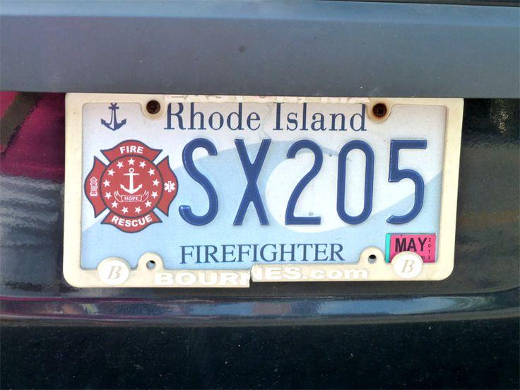 Plaque d'immatriculation de Rhode Island #USA