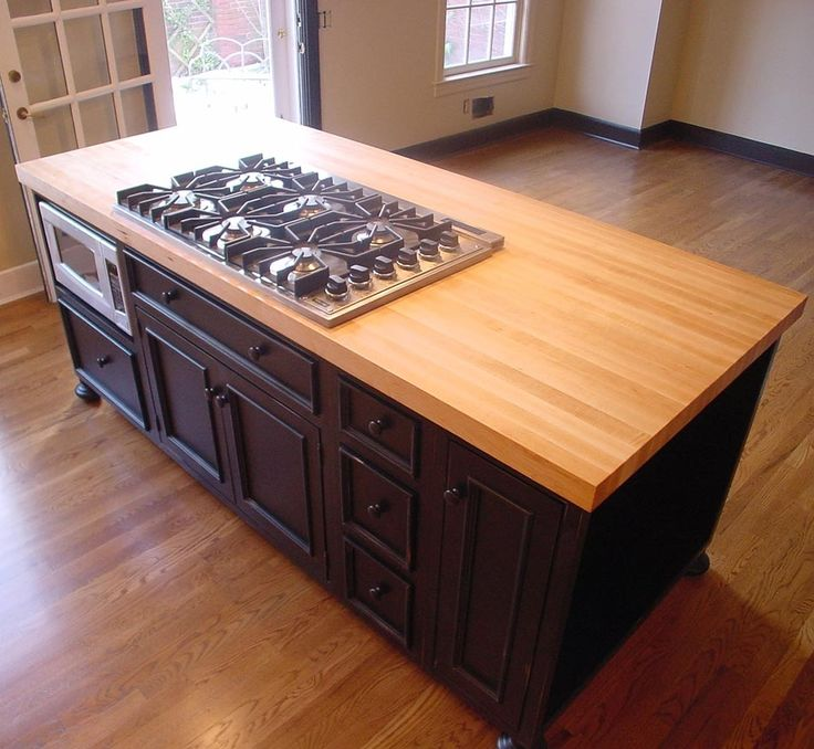 Maple Wood Kitchen Island Countertop by Grothouse - traditional - kitchen  countertops - dallas - The Grothouse Lumber Company