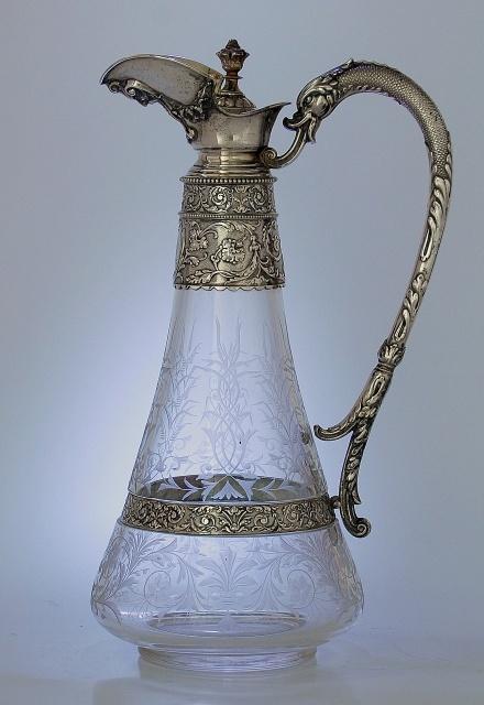 German Claret Jug, c.1880: Antiques Silver, 1880 Repin, German Claret, Www Silver And Grey Com, C 1880, Claret Jug, 1880 S, Berlin 1880, Beautiful Things
