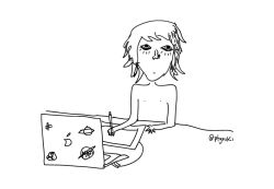 así me dibujo - this is how I draw myself - #doodle #drawing #art #illustration #ilustraciones #comic #arte