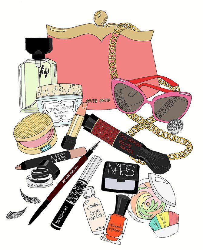 EmmaKisstina Illustrations by Kristina Hultkrantz: What's in My Makeup Bag