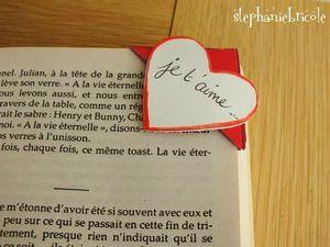 marque page saint valentin papier, valentine gift idea hand made #DIY