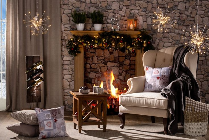 Cosy by the fire with Dekoria cushions and a soft blanket.