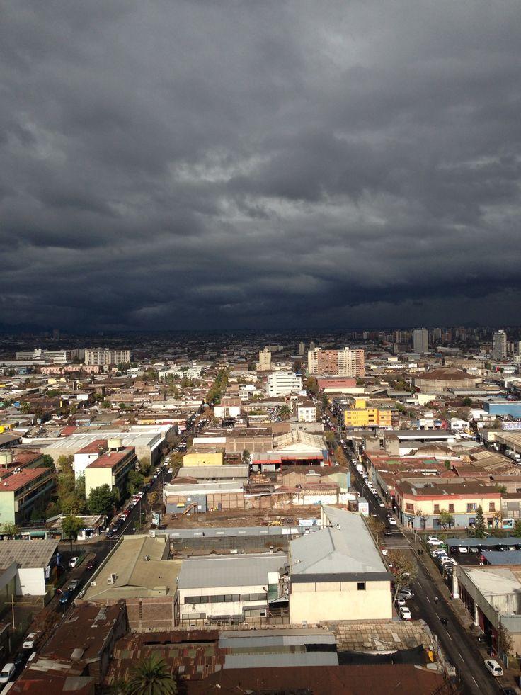 Vista desde Santiago centró a sur