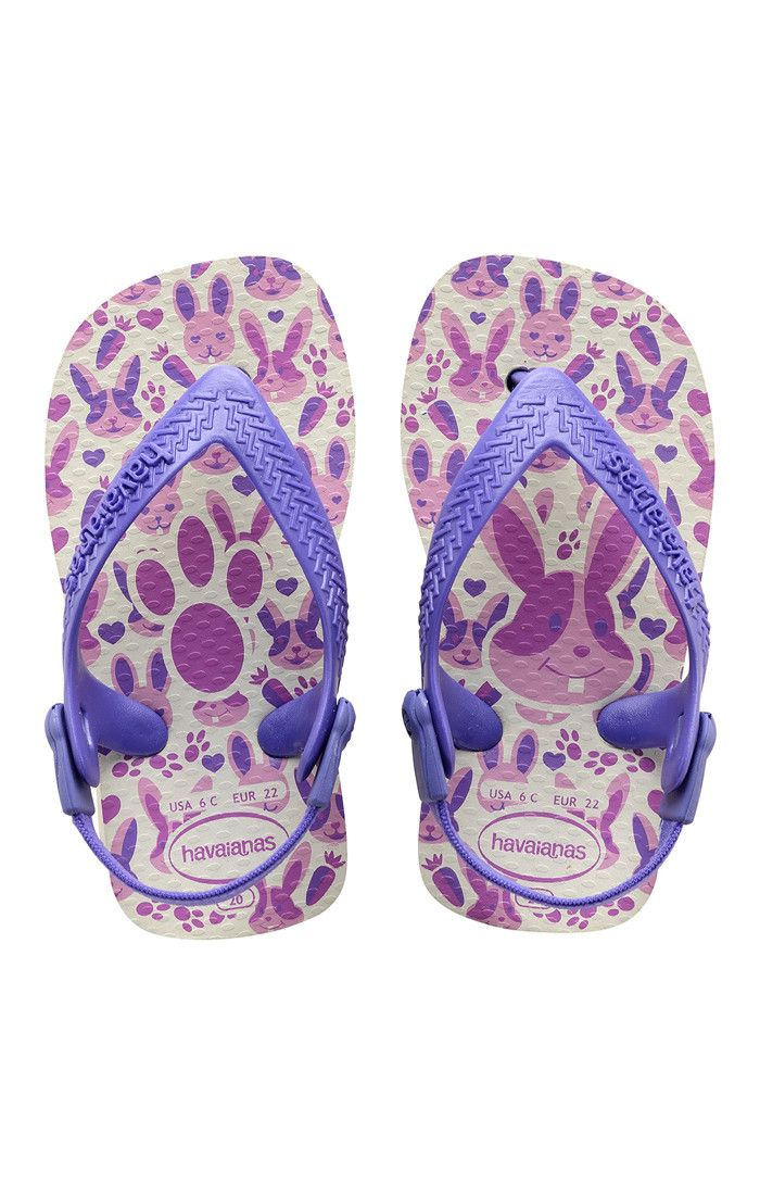 3ff677bf443ac6 Havaianas Baby Pets Sandal White Purple Price From  £12.66