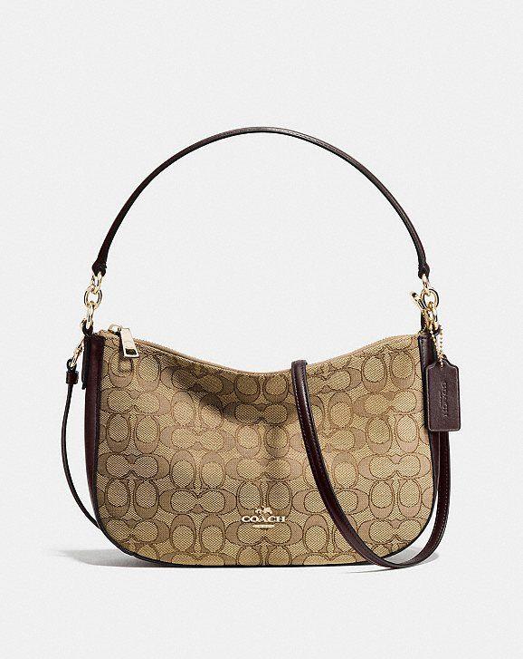 3cc931de1 Coach Chelsea Crossbody in Signature Jacquard Cross Body Handbags, Chelsea, Crossbody  Bag, Carry