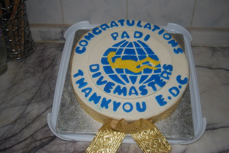 I made this cake for my friends Richard, Andrew & myself for passing our PADI Divemaster Course