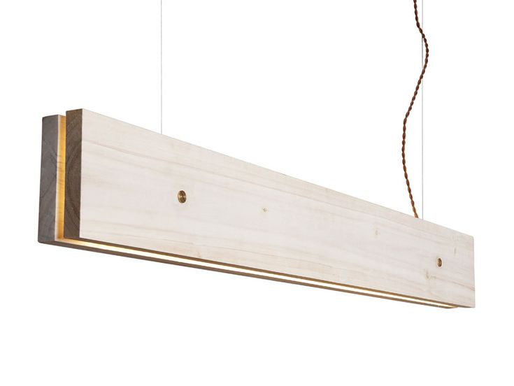 plank' by frida ottemo fröberg and marie-marie gustafsson for northern lighting: wo planks of wood sandwich a series of LEDs