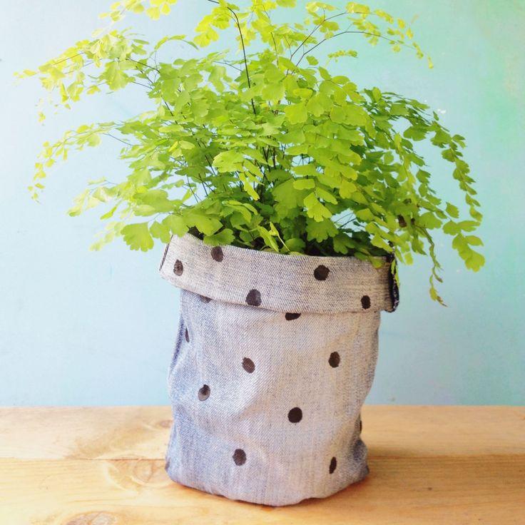 Customised Denim Pot Cover