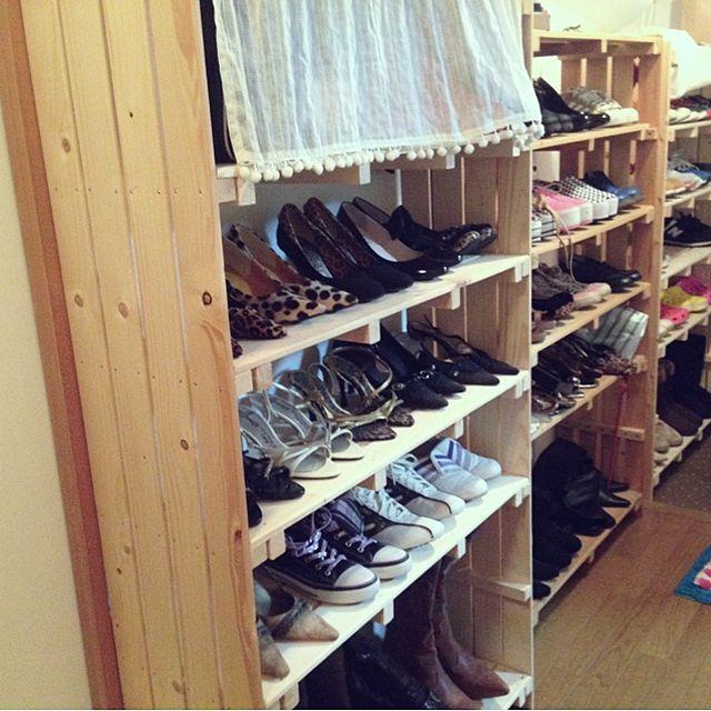 すのこシューズラック/靴/収納/手作り/玄関/入り口のインテリア実例 - 2013-10-17 02:08:35 | RoomClip(ルームクリップ)