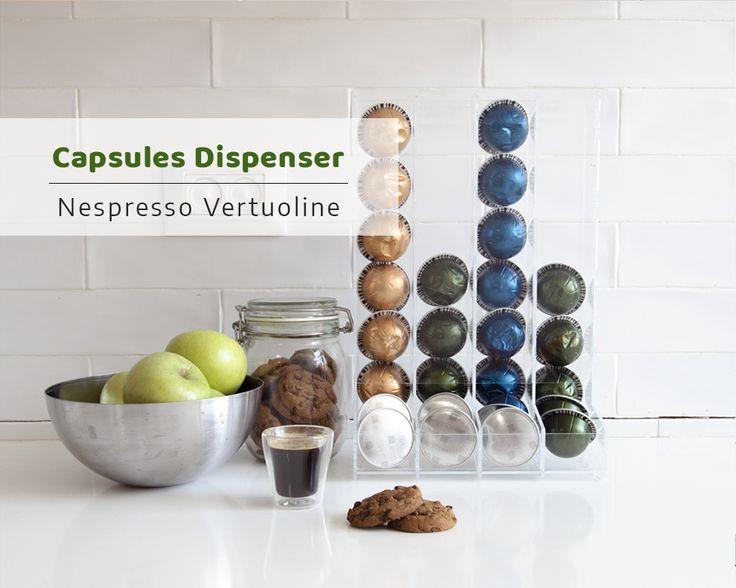 nespresso vertuoline clear coffee pod holder large pod holder kitchen organizer minimal decor