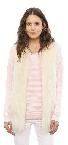 Fur Play Vest Ivory