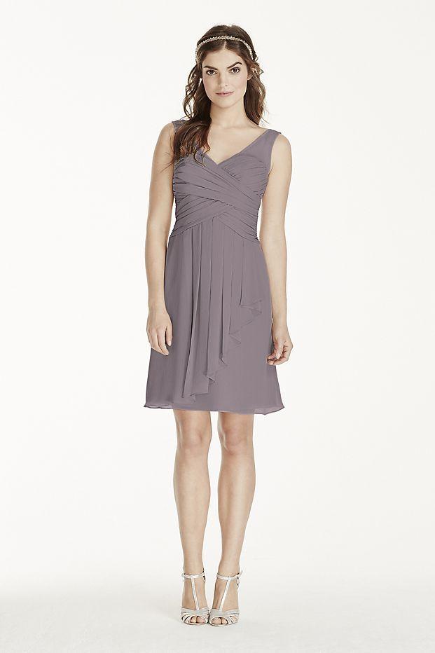 3c78ae62d3 Illusion Tank Dress with Short Cascade Skirt