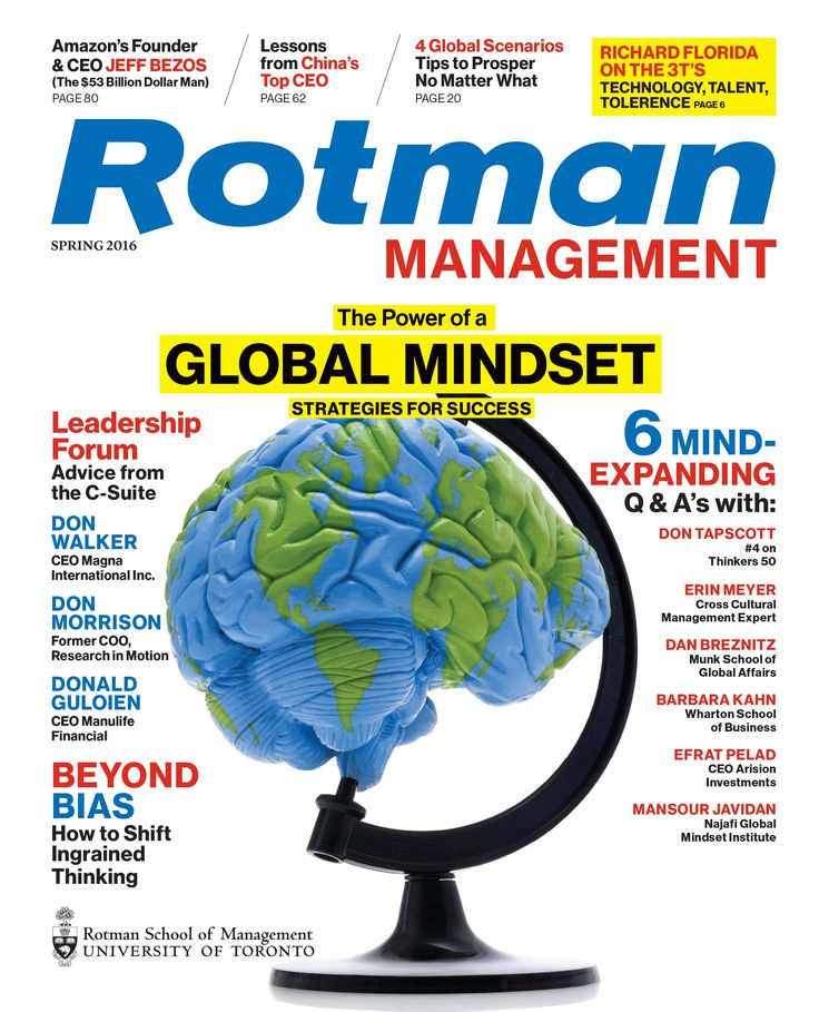 The Global Mindset Issue (Spring 2016)   Request a FREE trial issue: https://sequel4.publish2profit.com/SSS/ClientOrder.dwm?AccountID=Rotman&Campaign_No=189&Effort_No=368&Offer_No=133&MultiSourceCode=Free_Trial_Issue_Offer_Pinterest