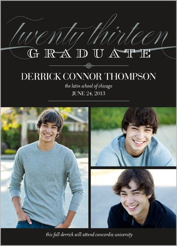 611 best graduation party images on pinterest drinks football elegant moment graduation announcement i like that it is an announcement without it needing to be filmwisefo