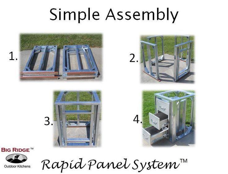 Rounded Corner DIY Rapid Panel Kit With Precut Cement Board Outdoor Kitchen  Module Allows You To Connect Two Side Modules Together While Creating An ...