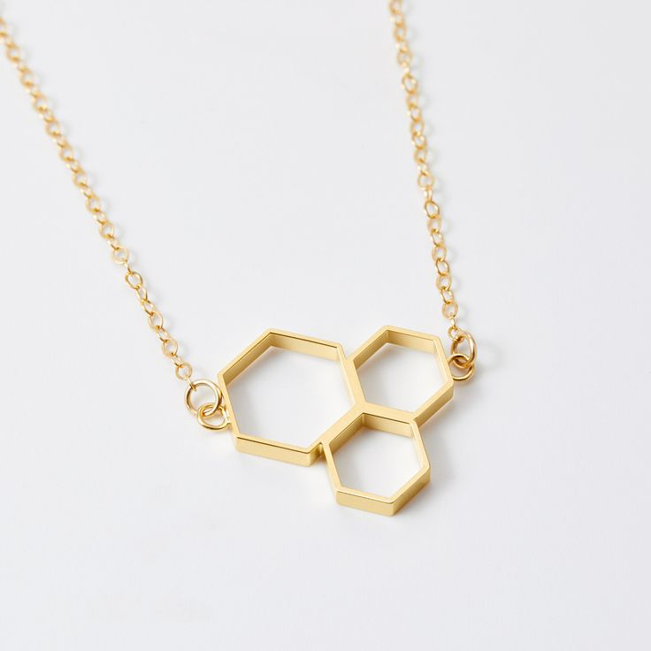 Triple Honeycomb Necklace