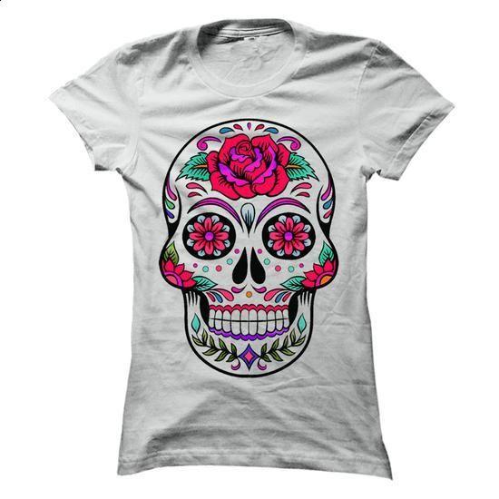 Sugar Skull - #fashion #tee shirt design. SIMILAR ITEMS => https://www.sunfrog.com/Holidays/Sugar-Skull-69879632-Ladies.html?60505