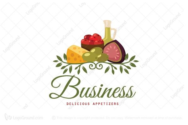 Logo for sale: Delicious Appetizers Logo