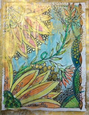 Art by Martha DeGroat Richardson Created for The Second Floor Challenge with Julie Fei-Fan Balzer & Nathalie Kalbach. Gorgeous!!!: Art Stuff, Martha Degroat, Art Journals, Art Challeneg, Journaling Mixed Media, Degroat Richardson, Fei Fans Balzer, Art Journaling Mixed, July Fei Fans