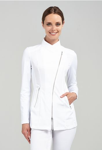 Jada - White - SPA + BEAUTY Uniform in black