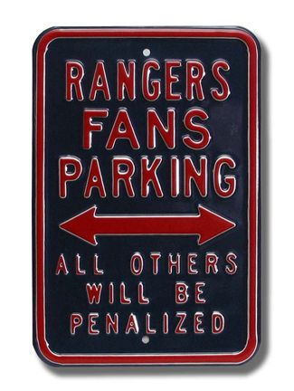 New York Rangers Penalized NHL Parking Sign | Man Cave Kingdom