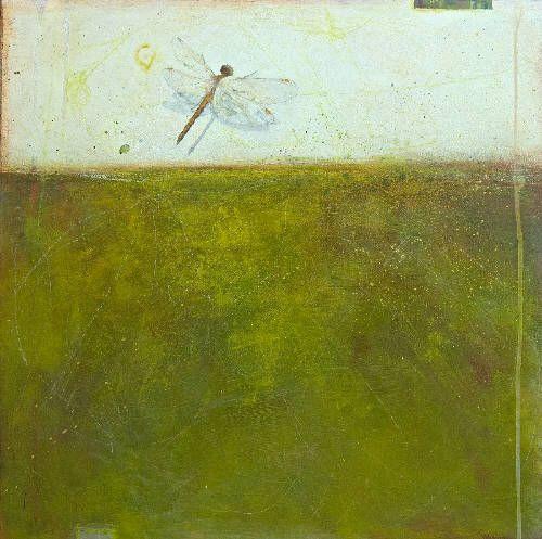 """Nikol Haskova FLY AWAY / Canada House Gallery - acrylic, birch panel 24"""" x 24"""""""