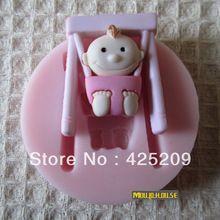 Nuovo 2013 3d bambino del silicone muffa del sapone, stampi fondente candela, strumenti del mestiere dello zucchero, muffa del cioccolato, stampi in silicone per dolci(China (Mainland))