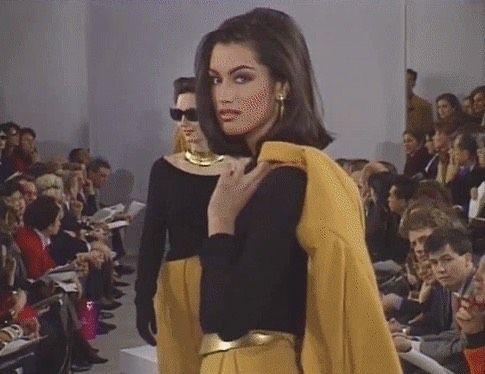 Yasmeen Ghauri – Donna Karan Runway Present 1990