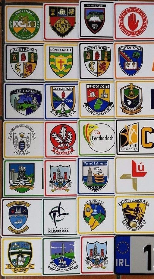 Ireland GAA County Plates ...Souvenir Gift from Ireland ...Hurling Football GAA.