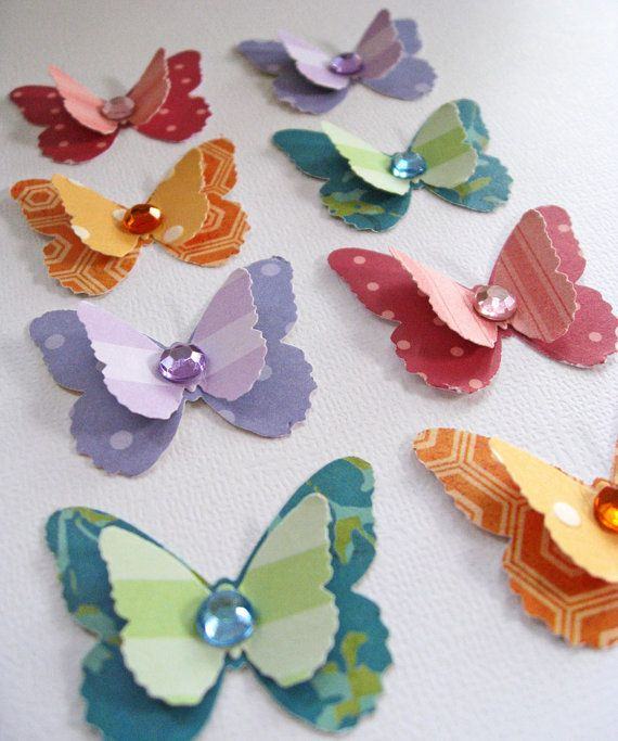 Handmade Butterfly Embellishments, Scrapbooking by Mailbox Memories