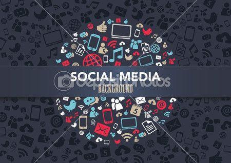 фон социальных медиа — Векторная картинка #25578195