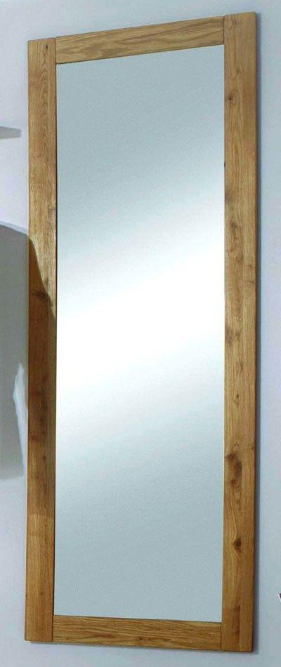 Spiegel 50x146 Wandspiegel Schlafzimmerspiegel Wildeiche Holz massiv geölt