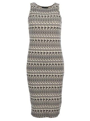 Pussycat London - Černo-krémové šaty s aztéckým vzorem - 1