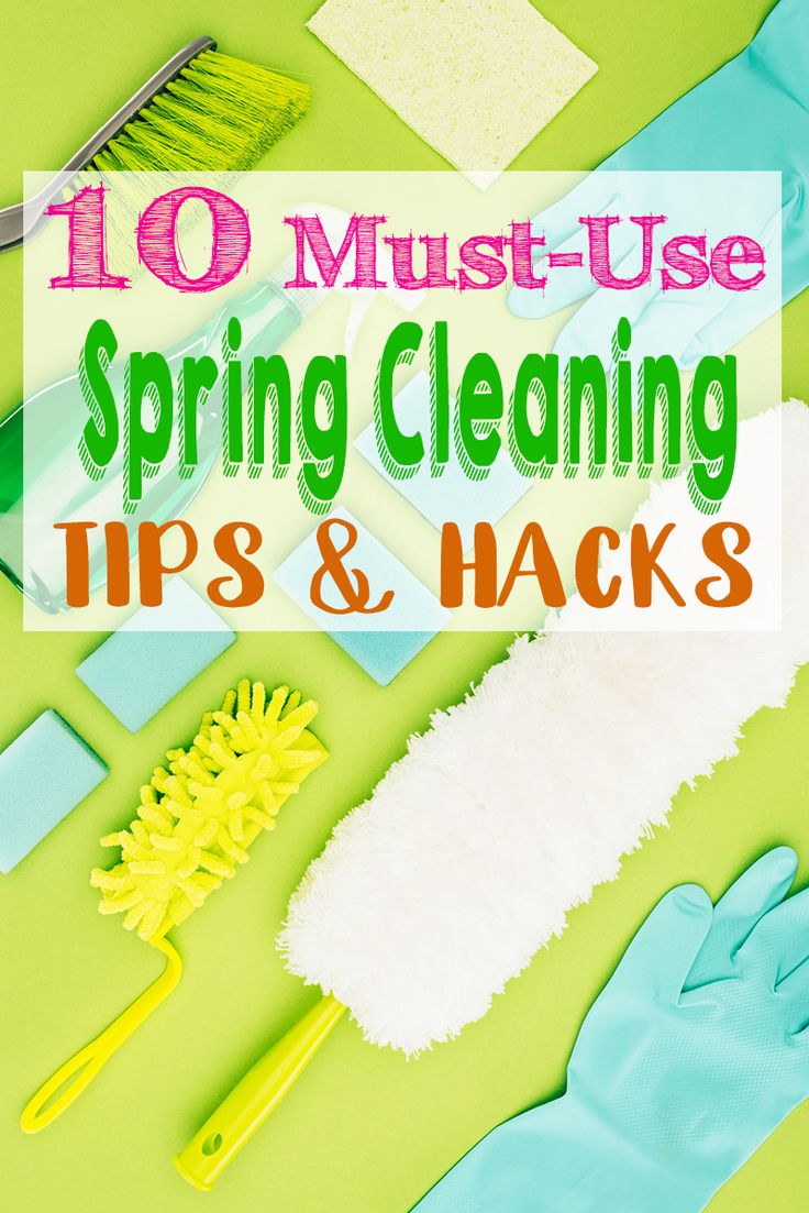 Spring is finally here and these spring cleaning tips and hacks will help you cl…