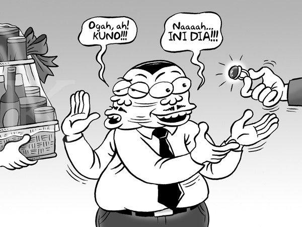 Kartun Benny, Kontan - Juli 2015: Tidak Terima Parcel Tapi Akik Terima
