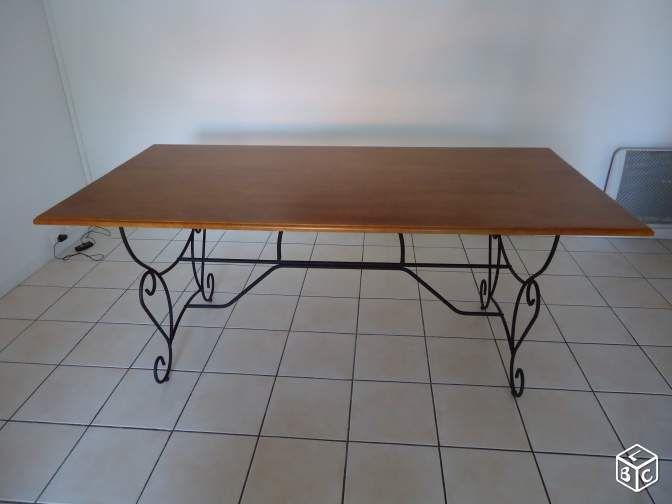 25 best table bois et fer ideas on pinterest for Table fer forge et bois