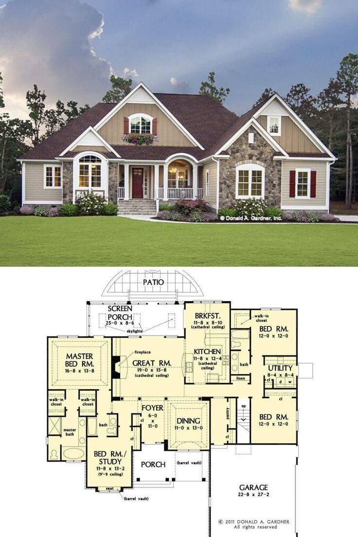 Single Story 4 Bedroom The Lennon Home Floor Plan Craftsman Style House Plans Craftsman House Plans House Layout Plans