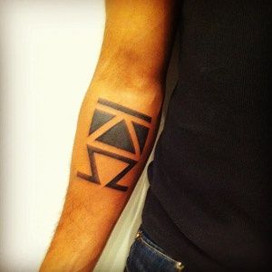 Alpha & Omega Tattoo http://tattoos-ideas.net/alpha-omega-tattoo/ Arm Tattoos, Black Ink
