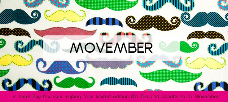 Movember is here! An mujbag is ready with the new Mo Bro mujbags!