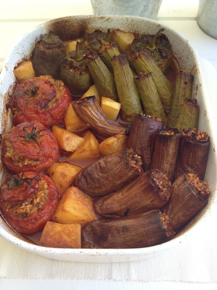 Yemista, Stuffed tomatoes, aubergines and zucchini http://www.instyle.gr/categories/magirefta/