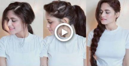 5 coiffures faciles pour les collèges et les filles de bureau | 1 Min Hairstlyes | Anukriti Lamaniya - #anukriti #college #girls #hairstlyes #hairstyle